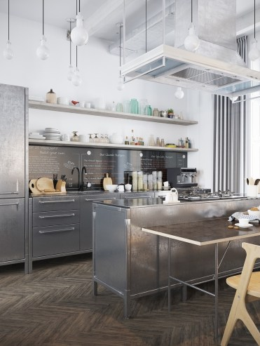 3-industrial-kitchen-chrome-cabinetry-white-walls