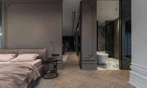 Apartment interior design for a single women with full of coziness and tender 5
