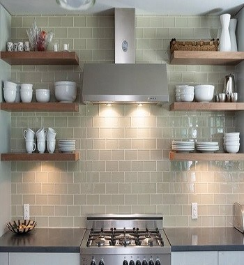Austin residence style Utilitarian Contemporary Kitchen Floating Shelves Ideas For Best Additional Storage