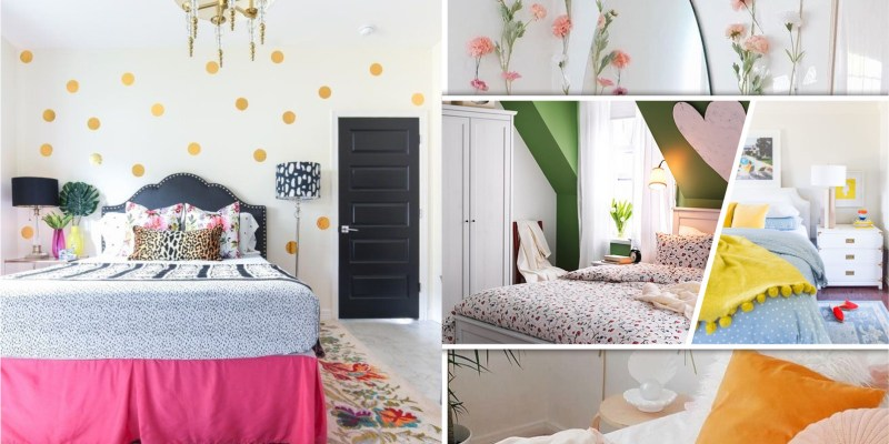 Bedroom decor with bright items ideas to bring freshness and makes your mood spring 2