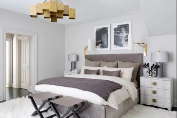 Brass chandelier for bedroom