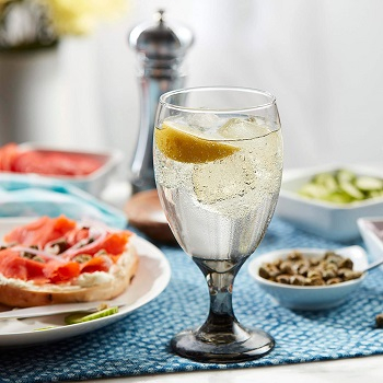Classic smoke goblet glasses Prettiest Colored Glassware You Can Definitely Add For Your Collection