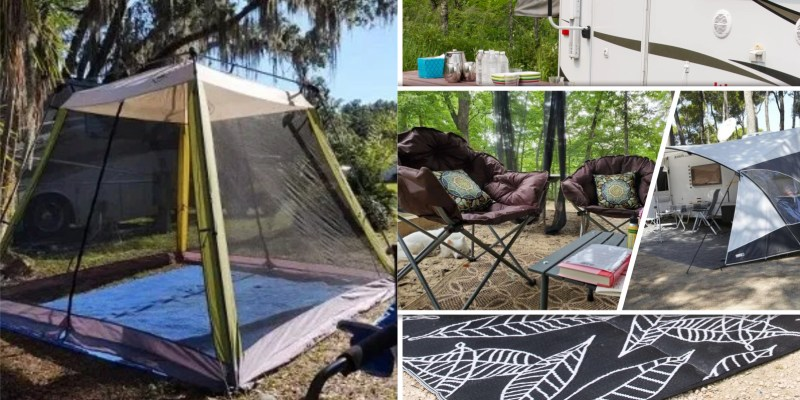 Good-looking campsite and patio decorating ideas for all types of rvers 5