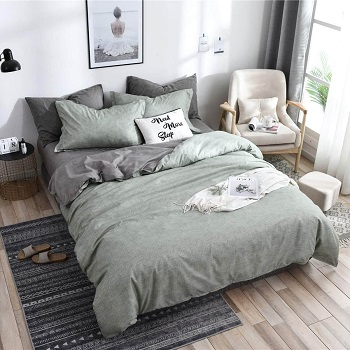 Grey green space bedroom Earth-Tone Bedroom Edition For Best Nature Feeling