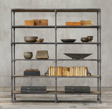 Industrial-shelving-from-restoration-hardware