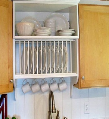Over the sink plate rack Uncomplicated Plate Racks Ideas To Stack Your Plates