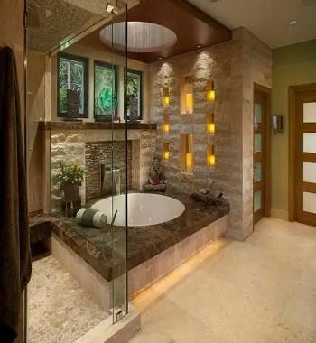 Peaceful earth tone bathroom Respecting Nature With Inviting Earth Tone Bathroom Design Ideas