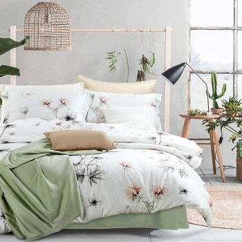 Plant lady's paradise white botanical garden Earth-Tone Bedroom Edition For Best Nature Feeling