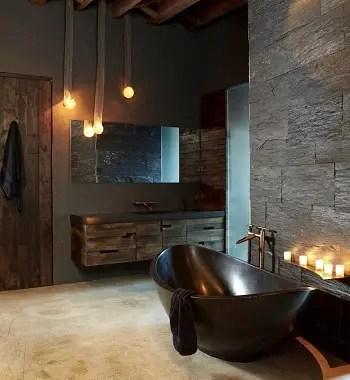 Quiet earth tone bathroom Respecting Nature With Inviting Earth Tone Bathroom Design Ideas