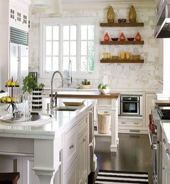 Simple floatng shelf Utilitarian Contemporary Kitchen Floating Shelves Ideas For Best Additional Storage
