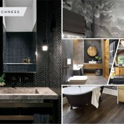 Striking black bathroom ideas to create intimate and chic environment 2