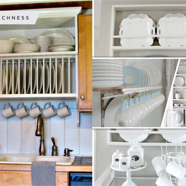 Uncomplicated plate racks ideas to stack your plates 2