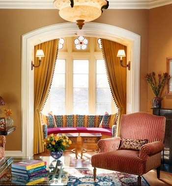 Vibrant fall colors Perfectly Blending Living Room Ideas With Earth-Tone Style