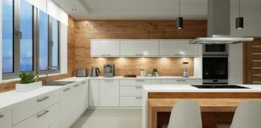 Wooden-walls-and-doors-modern-kitchen-ideas