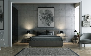 Grey-bedding-ideas-abstract-art-painting-1