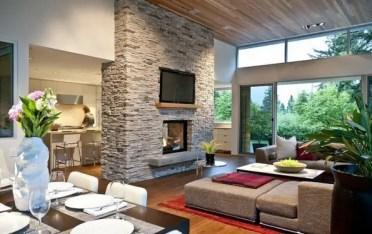Stone-fireplace-design-ideas-modern-living-room-large-sofa-dining-area