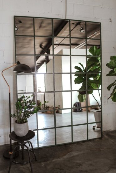 1-a-statement-industrial-mirror-made-of-ikea-lots-mirrors-is-a-bold-idea-for-any-space-and-it-will-fit-many-decor-styles-you-might-have