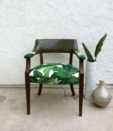 28-reupholster-a-usual-chair-with-banana-leaf-printed-fabric-to-give-it-a-tropical-feel