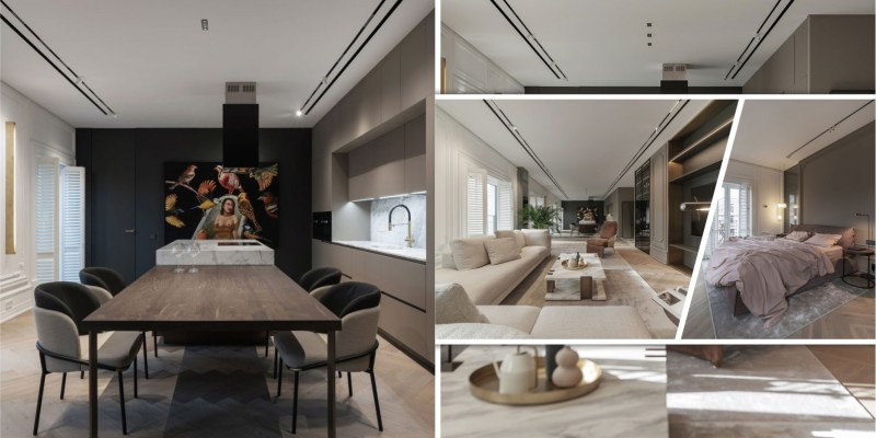 Apartment interior design for a single women with full of coziness and tender2