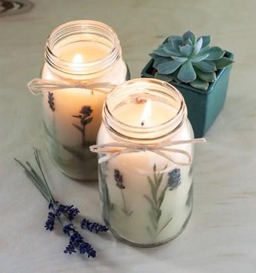 Diy-pressed-herb-candles