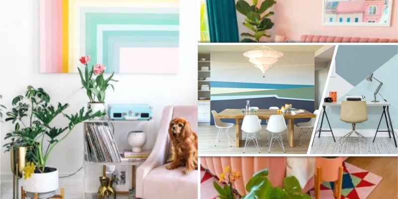 Decoration ideas with color-blocking style fi