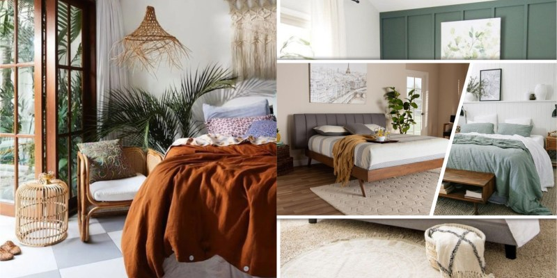 Earth-tone bedroom edition for best nature feeling 2