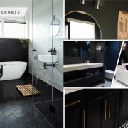 Matt black color finish for your bathroom decor 5