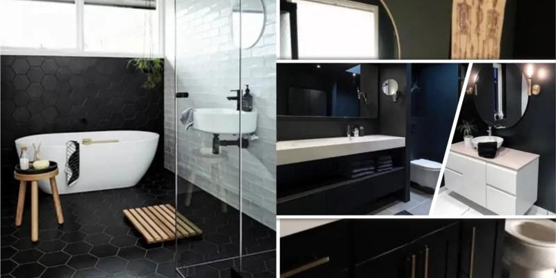 Matt black color finish for your bathroom decor 5