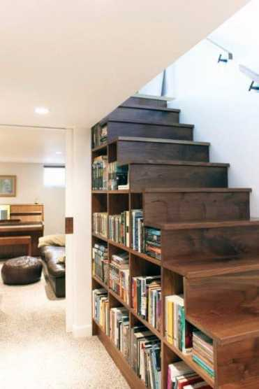 Basement-bookcase-for-books-under-stairs-ideas-inspiration