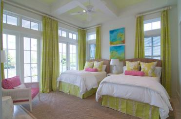 Chartreuse-silk-curtains