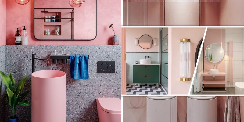 Lovable pink minimalist bathroom ideas as your best intimate space 2