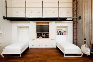 Savvy-custom-wall-unit-with-integrated-twin-murphy-beds-and-storage-units