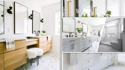 Simple satisfying bathroom vanity ideas for minimalist style.2
