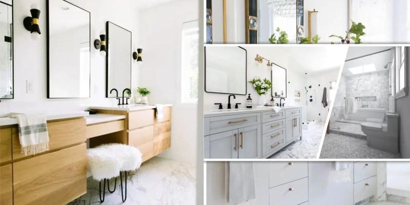 Simple satisfying bathroom vanity ideas for minimalist style.2