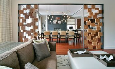 Unique-room-divider-using-wooden-boxes-separates-the-living-and-dining-spaces