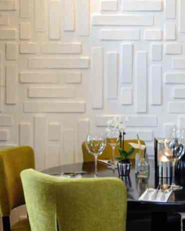 Dining-room-white-luxury-textured-wall-1