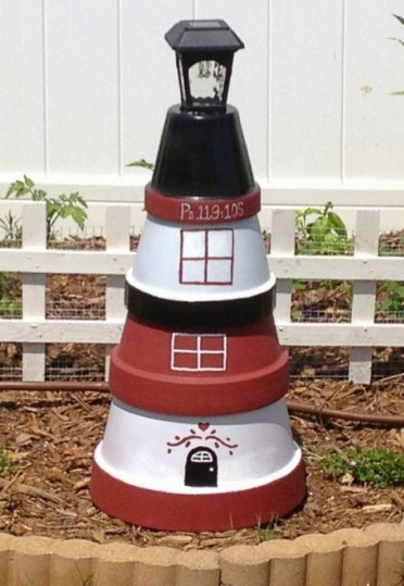 Diy-clay-pot-lighthouse-painted-solar-light