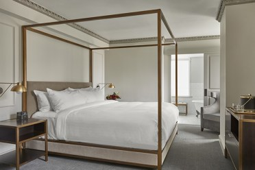 Modern-gold-canopy-bed