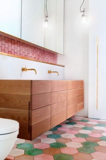 11-pink-and-green-hex-tile-floors