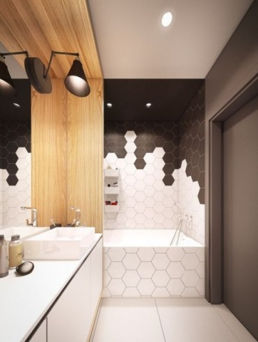 2-22-white-and-black-hexagon-tiles-clad-in-a-catchy-and-bold-pattern-to-highlight-the-bathtub-zone