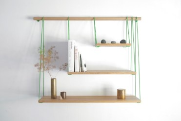 Creative-rope-and-wood-wall-shelves