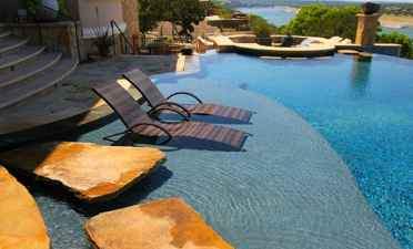 Pool-lounge-chairs-in-water