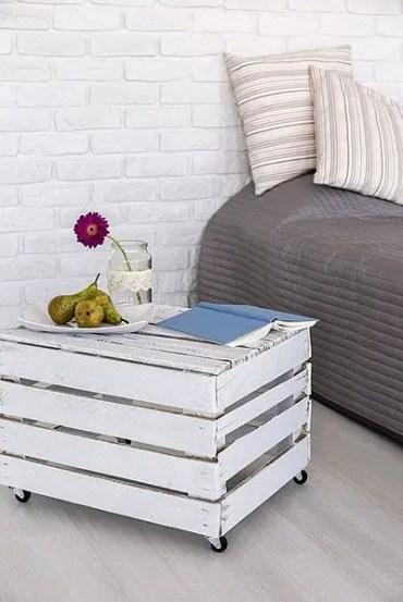Rolling-wooden-nightstand
