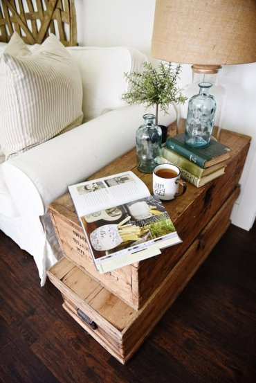 Stacked-trunk-end-table