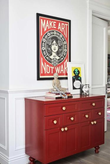 Blood-red-foyer-cabinet