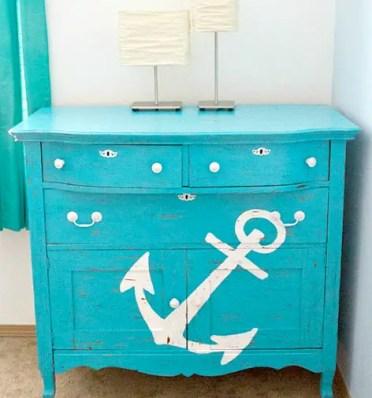Blue-painted-dresser