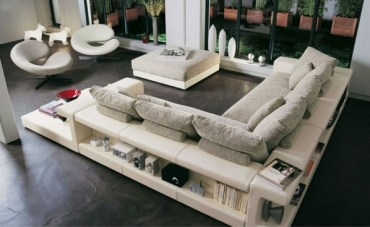 Contemporary-living-room-furniture-ideas-leather-and-fabric-sofa-storage-space