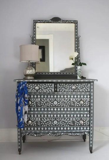 Indian-inlay-stencil-kit-cutting-edge-stencils-diy-stenciled-dresser-idea