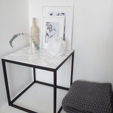 26-a-side-table-with-a-black-metal-base-and-a-white-marble-countertop-if-you-cant-afford-marble-go-for-contact-paper
