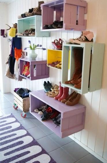 Colorful-mudroom-design-storage